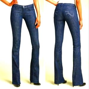 Rock & Republic Flap Pocket Studded Flare Jeans